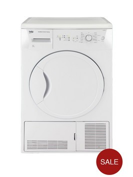 beko dcu8230w 8kg condenser sensor tumble dryer white. Black Bedroom Furniture Sets. Home Design Ideas