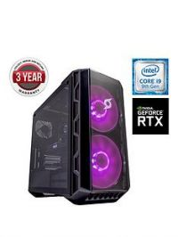 Zoostorm Stormforce Crystal i9-9900K Gaming PC - Intel Core i9, 16GB RAM, 2TB Hard Drive & 250GB NVMe SSD, NVIDIA 8GB RTX 2080 Graphics, Black