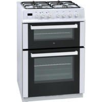 iQ 60cm Dual Fuel Cooker with Double Oven in White