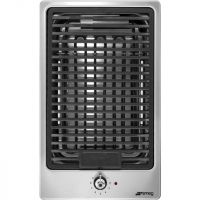 Smeg Classic PGF30B 51cm Stone Grill - Stainless Steel