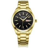 Rotary Men's Gold Plated Stainless Steel Bracelet Watch