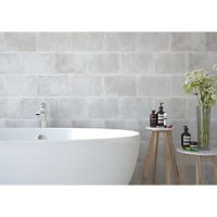 Wickes Formations Concrete Grey Ceramic Wall Tile 300 x 200mm