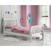 Collection Daisy Single Sleigh Bed with Mattress - White