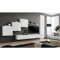High Gloss White Floating Entertainment Unit - Neo