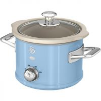 Swan Retro SF17011BLN 1.5 Litre Slow Cooker - Blue
