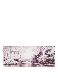 Graham & Brown Watercolour Forest Bridge Canvas
