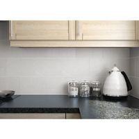 Wickes Formations Dolostone Light Grey Ceramic Wall Tile 300 x 200mm
