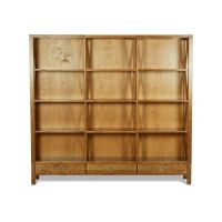 Balmoral Honey 3 Drawer Triple Bookcase