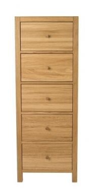 Brompton Oak Tall Chest of Drawers
