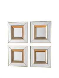 Gallery Set Of 4 Phantom Wall Mirrors