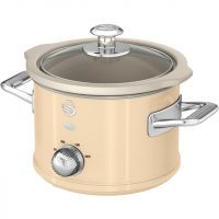 Swan Retro SF17011CN 1.5 Litre Slow Cooker - Cream