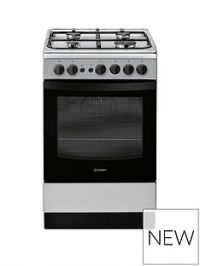 Indesit IS5G1PMSS 50cm Gas Single Oven Cooker - Silver