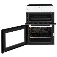 Beko KDC611W 60cm Double Oven Electric Cooker With Ceramic Hob White