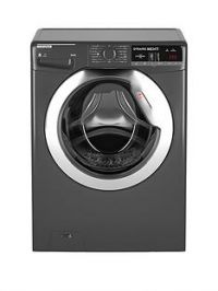 Hoover Dynamic NextWDXOA485CR 8kg Wash,5kgDry, 1400 Spin Washer Dryer with One Touch- Graphite