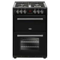 Belling Farmhouse 60cm Double Oven Dual Fuel Mini Range Cooker - Black