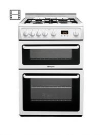 Hotpoint NewstyleHAGL60P 60cm Double Oven Gas Cooker with FSD - White