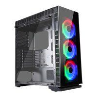 GameMax Spectrum Chassis, Tempered Glass, 3x 120mm RGB LED Fans Included, Radiator Support, ATX/MicroATX/MiniITX