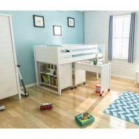 Jango Mid Sleeper Bed Frame with Bookcase & Desk