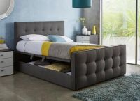 Cavill Fabric Upholstered Ottoman Bed Frame
