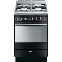 Smeg SUK61MBL9 SUK61MBL8 Concert 60cm Single Oven Dual Fuel Cooker - Gloss Black