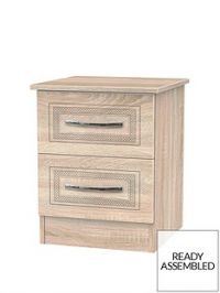 Winchester Ready Assembled 2 Drawer Bedside Chest
