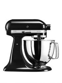 KitchenAid Artisan 4.8-Litre Tilt Head Stand Mixer - Black