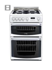 Cannon By Hotpoint CH60GCIW 60cmDouble Oven Gas Cooker with FSD - White