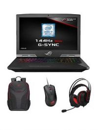Asus ROG G703GI-E5005R Intel Core i7H, GeForce GTX1080, 32GB RAM, 1TB SSHD & 256GB SSD, 17.3in IPS 144Hz Gaming Laptop with Bag, Mouse & Headset + Call of Duty Black Ops 4