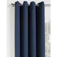 Collection Linen Look Blackout Curtains - 117x137cm - Navy