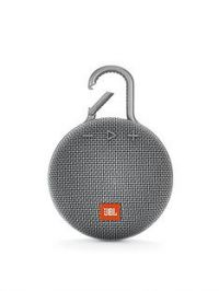 JBL JBL Clip3 Wireless Bluetooth Ultra Portable and Rugged Speaker with Intergrated Carabiner and Up To 10 hours Playtime - Grey