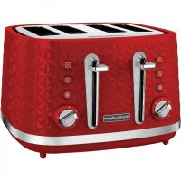 Morphy Richards Vector 248133 4 Slice Toaster - Red