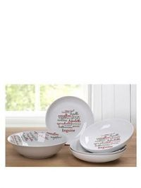 Waterside Italian 5 Piece Pasta Bowl Set