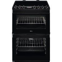 AEG CIB6740ACB 60cm Double Oven Electric Cooker With Induction Hob - Black