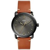 Fossil Commuter Men's Brown Leather Strap Watch