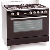 Montpellier MR90DFMK Single Cavity Duel Fuel Range Cooker in Black