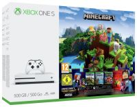 Xbox One S 500GB Minecraft Complete Adventure Console Bundle