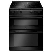 Amica AFC6520BL 60cm Double Oven Electric Cooker With Ceramic Hob - Black