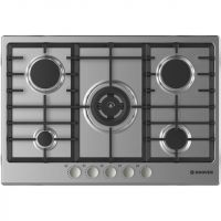 Hoover HGH75SWCEX 75cm Gas Hob - Stainless Steel