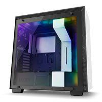 NZXT H700i, White/Black, Mid Tower Computer Chassis, Tempered Glass Window, Smart Control, E-ATX/ATX/mATX 4x Fans