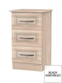 Winchester Ready Assembled 3 Drawer Bedside Chest