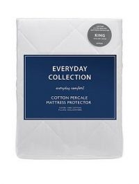 Everyday Collection Cotton Percale Quilted Mattress Protector