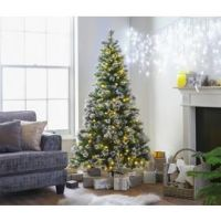 Argos Home 6ft Pre-Lit Snow Tipped Christmas Tree - Green