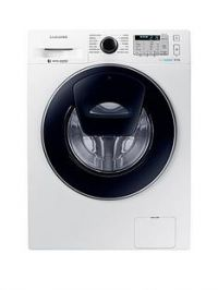 Samsung WW80K5413UW/EU 8kgLoad, 1400 Spin AddWashWashing Machine with ecobubble™Technology and 5 Year Samsung Parts and Labour Warranty - White