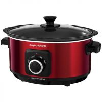 Morphy Richards Evoke Sear And Stew 460014 3.5 Litre Slow Cooker - Red