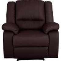HOME Bruno Leather Effect Manual Recliner Chair - Brown