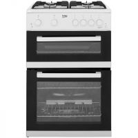 Beko KDG611W 60cm Gas Cooker with Full Width Gas Grill - White - A+/A Rated