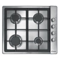 Candy CLG64SGX 4 Burner 60cm Gas Hob With Cast Iron Pan Stands Stainless Steel