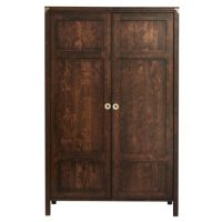 Balmoral Dark Chestnut 2 Door Wardrobe