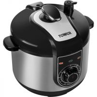 Tower T16004 5 Litre Pressure Cooker - Stainless Steel