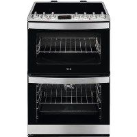 AEG CIB6730ACM 60cm Double Oven Electric Cooker With Induction Hob - Stainless Steel